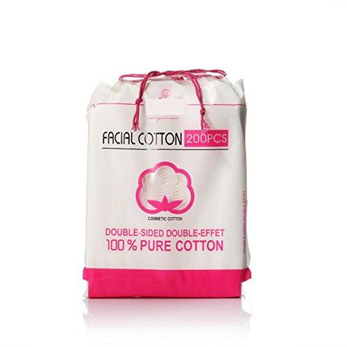 Cotton Pads Weiche kosmetische Wattepads hohe Qualität fusselfreien Gesichts Make-up Entferner Reinigung Baumwolle (appr.200pcs) BAOLIJIN