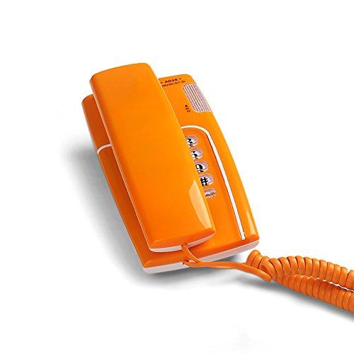 XM Teléfono La extensión de la Pared del hogar cuelga el Cable Fijo de la Oficina (Color : Orange)