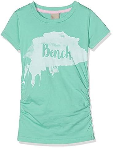 Bench Mädchen Slim Fit T-Shirt LOGO TEE BKGG000439, Einfarbig, Gr. 164 (Herstellergröße: 13-14), Türkis (turquoise