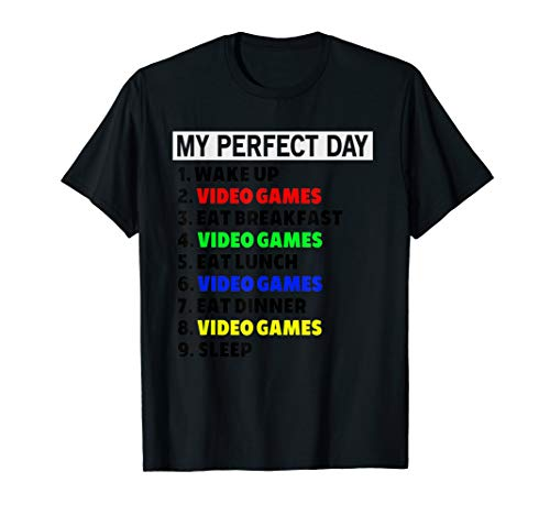 Funny My Perfect Video Game Day T-Shirt