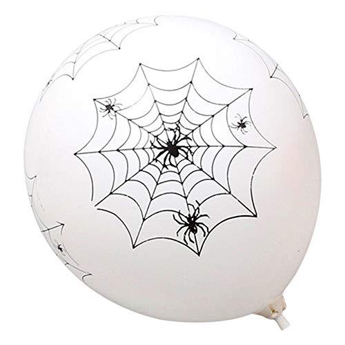 Ghost Kostüm Tüll Weiß - QinMM W Halloween Spielzeug Scary Ghost String,Halloween Horror Party Blood Splatter & Handabdruck Ballons blutigen Druck