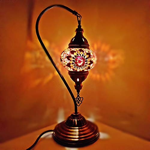 De turquíA / marroquí Lámpara Cristal Escritorio Lámpara De Mesa con Inglesa Enchufe y interruptor - MC2-A