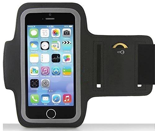 bestbuy-24 Sport-Armband für handy smartphone apple iPhone-5 / iphone-5S, neopren Klettverschluß, schwarz Displayschutz, ideal für jogging / walking / sport