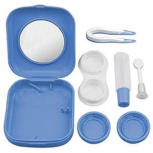 2sets Taschen-Minikontaktlinse-Kasten Travel Kit einfach tragen Spiegel Behält