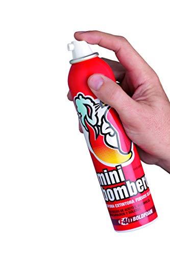 Spray extintor para sofocar fuegos de aceite, sólidos, hidrocarburos, líquidos polares y...