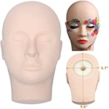 Training Mannequin Make Up Practice Flat Head Eye False Lashes Eyelash Extensions Lip Tatoo Practice Model