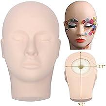 Training Mannequin Make Up Practice Flat Head Eye False Lashes Eyelash Extensions Lip Tatoo Practice Model