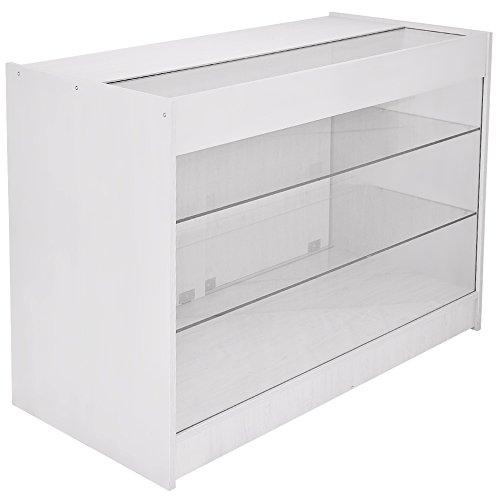 Abschließbare Verkaufstheke und Vitrine K1200 von MonsterShop, mit Glas, fliederfarben, weiß, 120cm x 90cm x 60cm