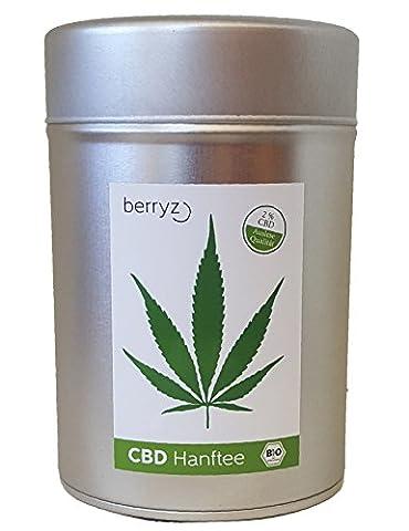 berryz CBD Tee in hochwertiger Aromaschutz Dose + 2 % CBD + AKTION 10% Gratis + Cannabis Sativa aus EU BIO Anbau + Das ideale Geschenk
