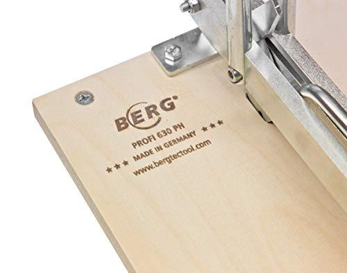Fliesenschneidemaschine FSM 630 PH mit einer Gesamtschnittlänge von 630 mm.