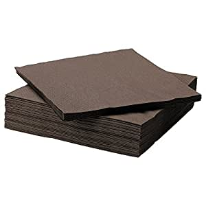 fantastisk lot de 50 serviettes en papier tr s absorbant marron cuisine maison. Black Bedroom Furniture Sets. Home Design Ideas
