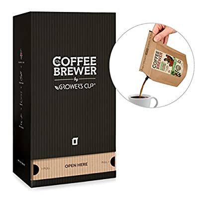 Specialty Coffee Pour Over Bags - Luxury Desk Coffee Gift Box - 25 Pcs Desk CoffeeBrewer by The Grower's Cup - Perfect Gift Item by The Brew Company A/S