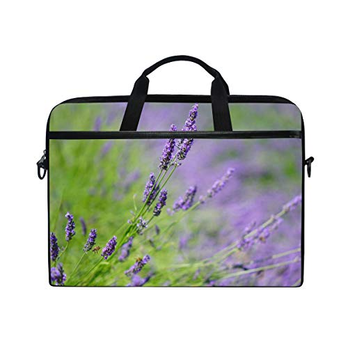 Stilvolle Aktentasche Laptoptasche 15 Zoll mit Schultergurt für Männer und Frauen Lavendel - Lavendel Samt