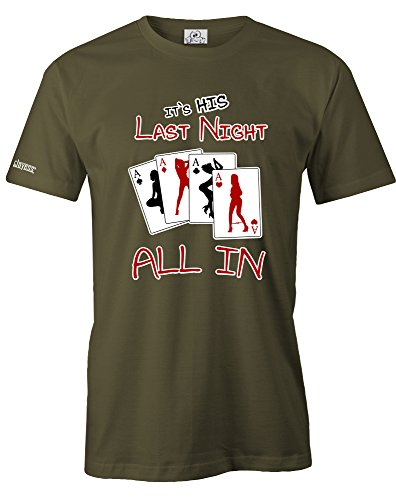 IT´S HIS LAST NIGHT - JGA - HERREN T-SHIRT Army