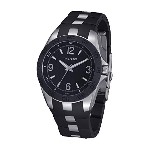 Time Force Reloj Analógico para Hombre de Cuarzo con Correa en Caucho TF4036L01