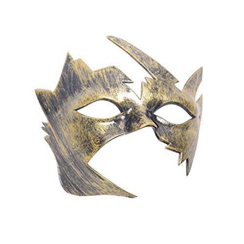 Macxy - Halloween-Maske Schöne Männer Burnished Antike venetianische Maskerade-Partei-Kugel-Maske [J 4PC]