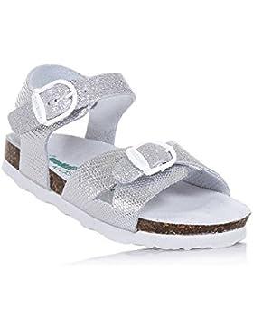 BIONATURA - Silberne Sandale aus Glanzleder mit Glitzern, ausschließlich made in Italy, aus hochwertigen, Mädchen
