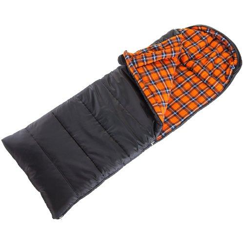 Skandika greenland luxus sacco a pelo/coperta, fino a -25°, nero (schwarz/orange), m