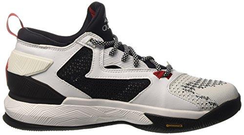 adidas D Lillard 2 Pk, Basket homme Multicolore - Multicolore (Ftwwht/Cblack/Scarle)