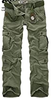 Men's Cotton Military Camouflage Cargo Pants Army Camo Trousers