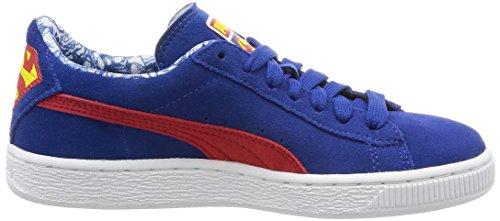 Puma Unisex-Kinder Suedesupermanjrf6 Sneakers Blau (LIMOGES/RED 04LIMOGES/RED 04)