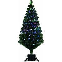 Festive - Albero di Natale in fibra ottica con controllo remoto, 1,20 m