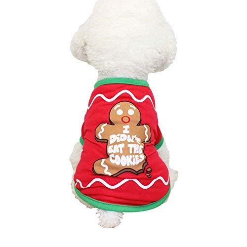Alexsix Haustier Pullover, Thema Weihnachten Haustier Klassisch Strickpullover Welpe Teddy Hund Warme Winter Weich Pullover Overall Mantel Bekleidung für Kleine Hunde - Stil F, Large
