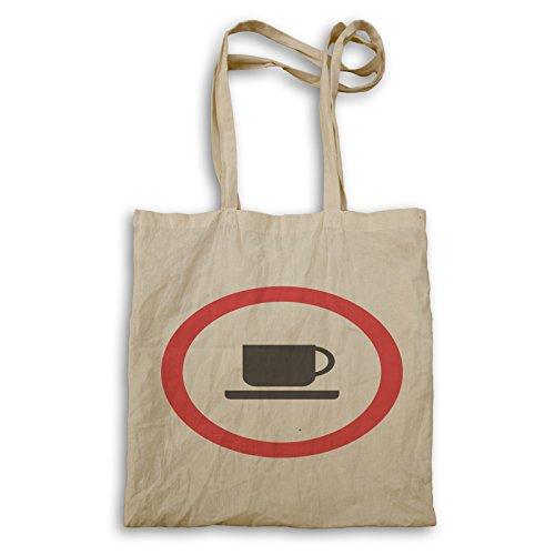 INNOGLEN Nicht erlaubt Kaffee Zeichen Funny Vintage cal Tragetasche c644r (Zeichen Vintage-kaffee)