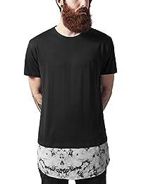 Urban Classics Long Shaped Marble Tee, T-Shirt Homme, Weiß