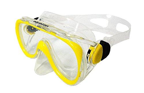 AQUAZON AQMADOBL Masque de plongée Dauphin Taille M M Jaune/noir - Jaune