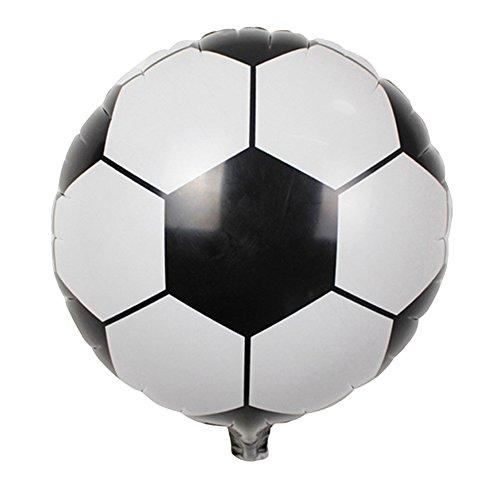 SEGRJ 45 x 45 cm, 5 Stück Kreative Folien Fußball Ballon Bar Geburtstag Party Zubehör Mall Festival Dekoration Schwarz/Weiß (Lila Und Weiße Fußball-stollen)