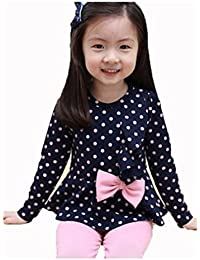 BABY Girls Children Baby Polka Dot Tops + Stretch Pants 2pcs Clothes Sets Outfits