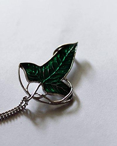 Herr der Ringe Blatt Brosche Elven mit Die Halskette Chain