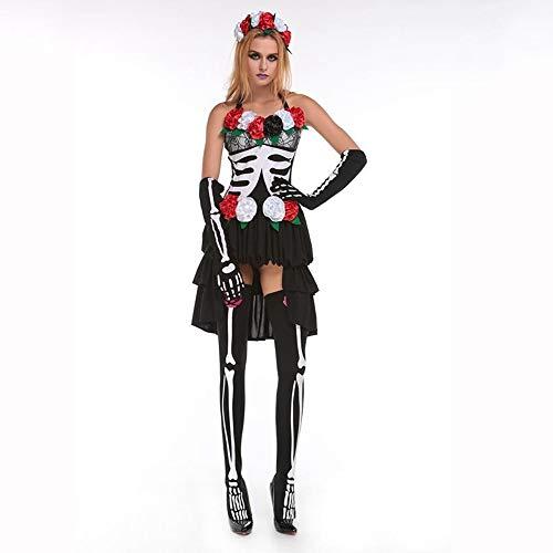 Yunfeng Hexenkostüm Damen Mumifiziert Braut Hexe Outfit Demon Outfit Untoten Halloween Cosplay Kostüm