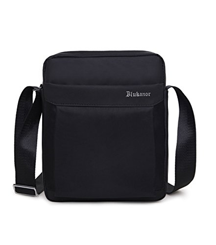 DoubleVillages Uomo Borsa a tracolla Uomo Borsa messenger Borsa Borsetta a spalla /Messenger bag /sling bag /chest bag /crossbody bag/ Zainetto Monospalla -Nero-impermeabile