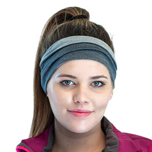 Red Dust Active Damen Stirnband aus Merino Baumwollmischung – Winter Schweißband perfekt für Kaltwetter Workouts – Jogging Mütze – Idealer Windschutz – Umkehrbar
