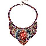 iPobie Collana Etnica Donna,Collana da Donna Collana Boema,Multicolore, Stile Etnico