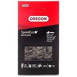 Oregon SpeedCut Chaîne de tronçonneuse pour équiper les Tronçonneuses 45cm Dolmar, Gardol, Jonsered, Husqvarna, Lux, McCulloch, 72 Maillons Entraineurs