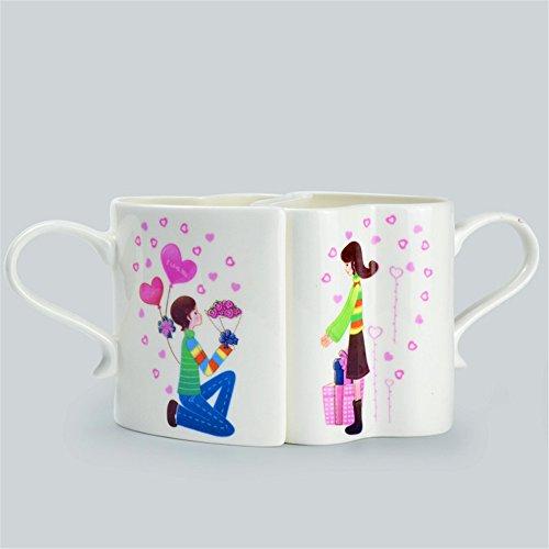 iche Straßenansicht Paar Tasse Paar Tasse Karikatur Tasse Kaffee Milch Tasse (Weibliche Yoda)