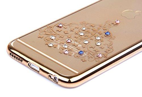 iPhone 6S Plus Hülle, iPhone 6 Plus Hülle, iPhone 6S Plus Silikon Hülle Rose Gold Tasche Handyhülle [Kratzfeste, Scratch-Resistant], iPhone 6 Plus TPU Gel Bumper Case Weiches Transparent Silikon Schut Röcke