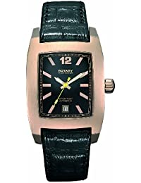 Rotary Editions 202B Unisex Rectangular Rose Gold PVD Leather strap watch