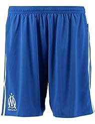 Adidas OM 3 SHO Short pour homme Bleu/Blanc