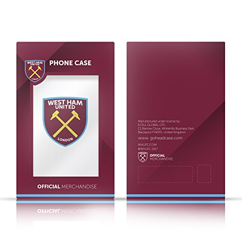 Ufficiale West Ham United FC 2015/16 Final Home Retro Stemma Case Ibrida per Apple iPhone 7 Plus / 8 Plus 2015/16 Final Home