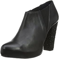 Shoe Biz Damen Bjørk Pumps, Schwarz (Velvet Black Glitter Black Heel), 40 EU
