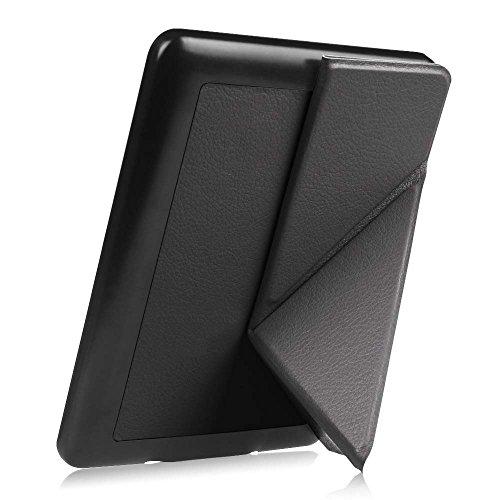 Fintie Hülle für Kindle Paperwhite - [Origami Serie] Leichte Multi-Winkel Stand Schutzhülle (Nicht geeignet für das Modell der 10. Generation 2018), Schwarz