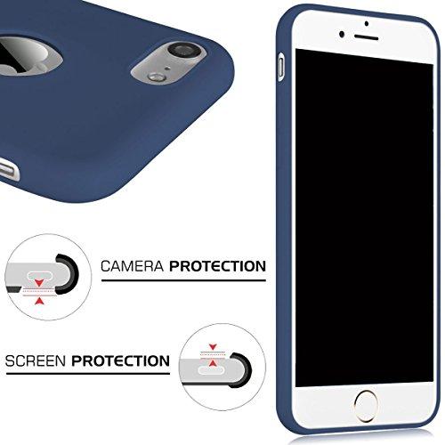 Cover iPhone 7 (4.7),ToDo iPhone 7 Custodia Silicone Ultra Morbido Satinate Opaco Ultra Sottile TPU Flessibile Gomma Cassa Protettiva Gel [Anti-scivolo] [Anti-Graffio] [Antiurto] Leggero Cellulari Pr Blu navy