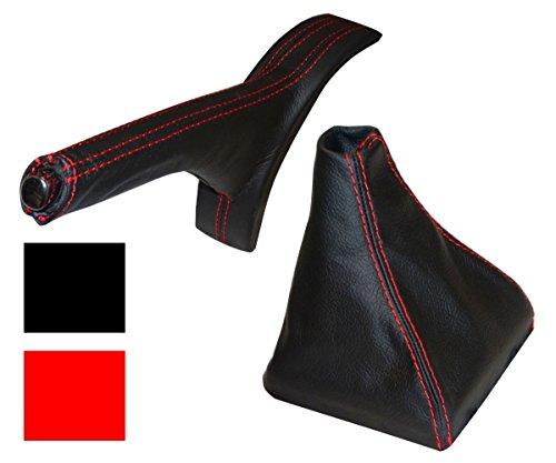 AERZETIX Funda r/ígida par Palanca de Cambio Compatible con Seat Cordoba 2 de 2002/-/2009 Color Negro de Piel sint/ética