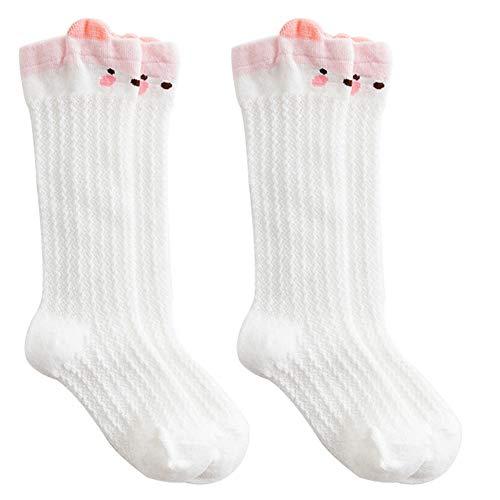 2ST Unisex Baby-Kniestrümpfe Netter Koala-Muster-Breathable Ineinander Greifen-Socken-Sommer Anti Mosquito Zopfmuster Socken Schlauch Gekräuselten Strümpfe Für 1-3 Jahre Alt Baby-Weiß - Mädchen Für Koala Baby-schuhe
