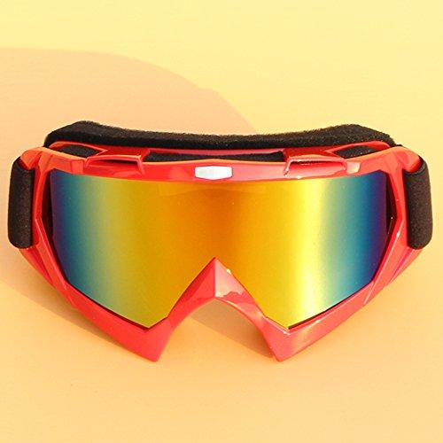 LYLhmj Skibrille Ski-Schutzbrillen Snowboard Brille Outdoor-Sport Snowboard-Schutzbrillen Anti-Nebel UV-Schutz winddicht Single-Objektiv Snowboardbrille für Motorrad Fahrrad Skifahren Skaten (Rot)