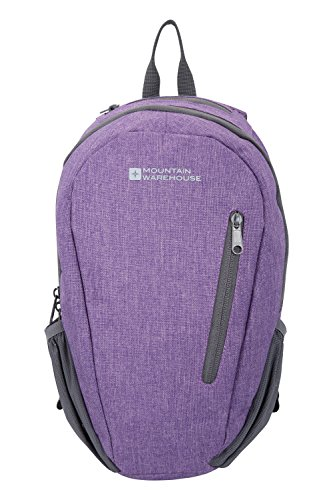 mountain-warehouse-small-rucksack-espirit-10-litre-lightweight-adjustable-travelling-dark-purple
